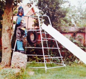 J in Leicester garden