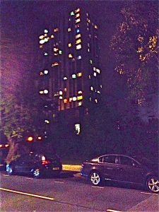 Flats at night